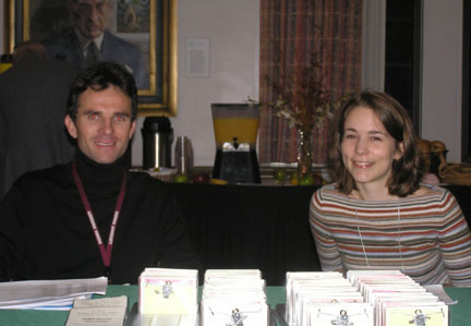 Jordi and Caroline on the registration desk