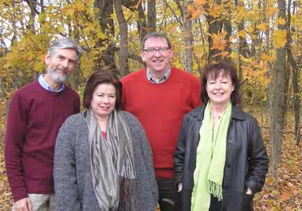 Paul Lloyd, Jean Fornasiero, Heath Lees, and Jill Anderson